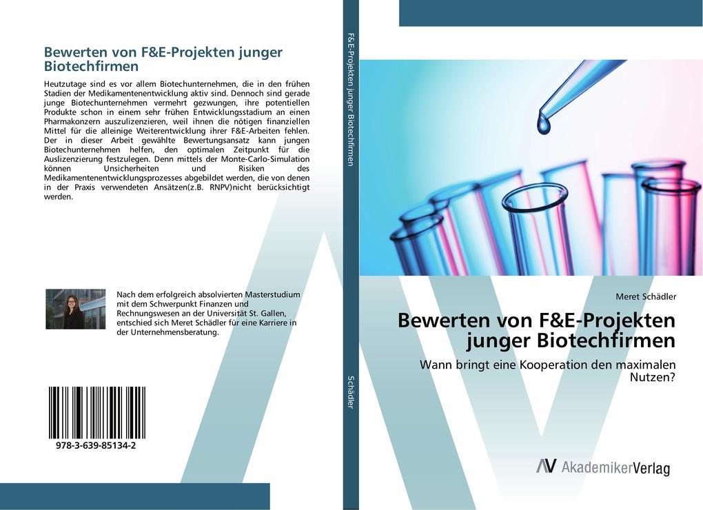 Bewerten von F&E-Projekten junger Biotechfirmen...
