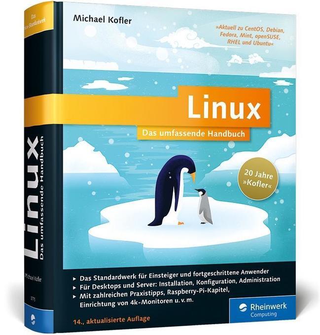 Linux als Buch von Michael Kofler