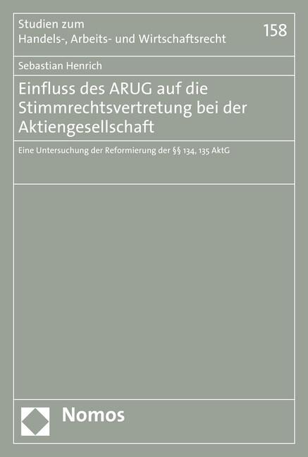 Einfluss des ARUG auf die Stimmrechtsvertretung...