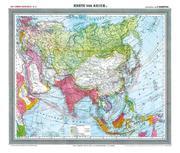 General-Karte von Asien, um 1903 [Plano-Reprint]