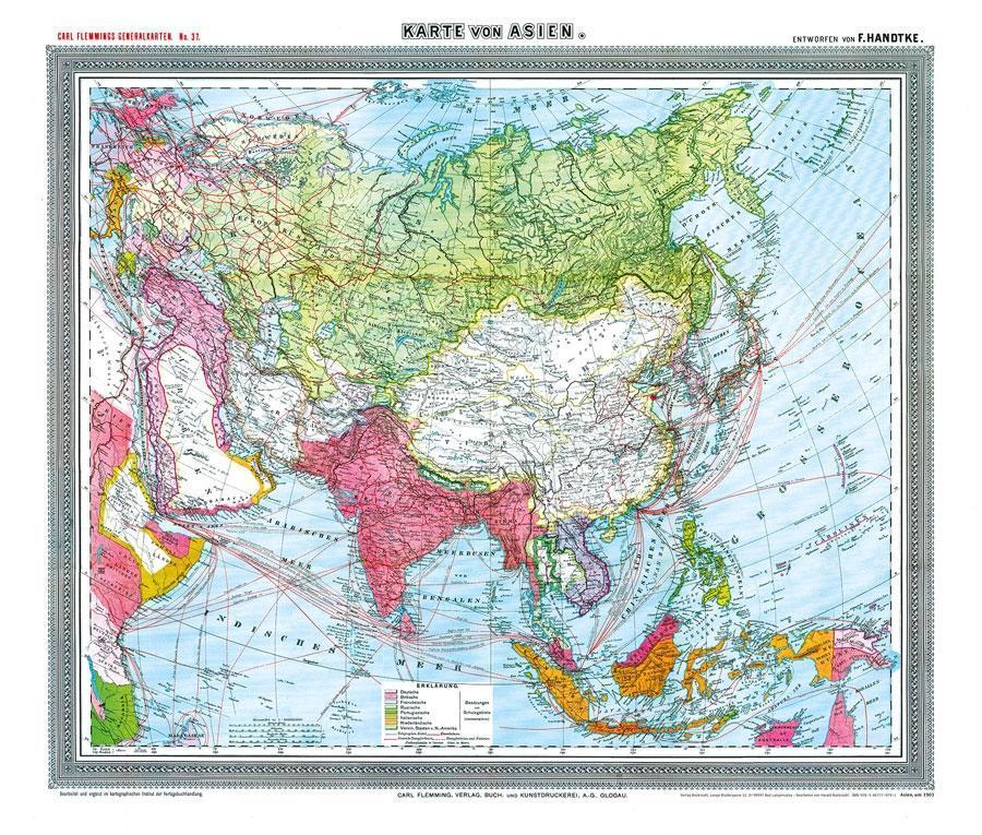 General-Karte von Asien, um 1903 [Plano-Reprint...