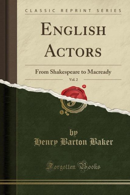 English Actors, Vol. 2 als Taschenbuch von Henr...