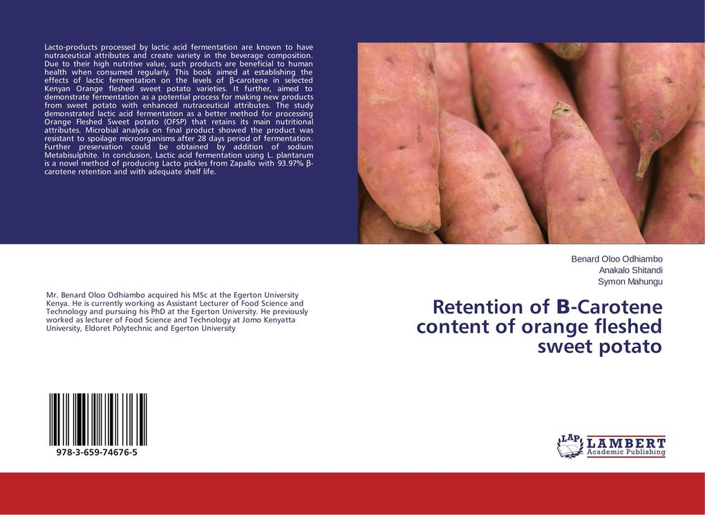 Retention of ´-Carotene content of orange flesh...