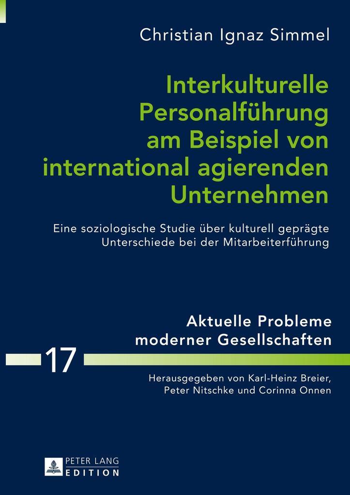 Interkulturelle Personalführung am Beispiel von...