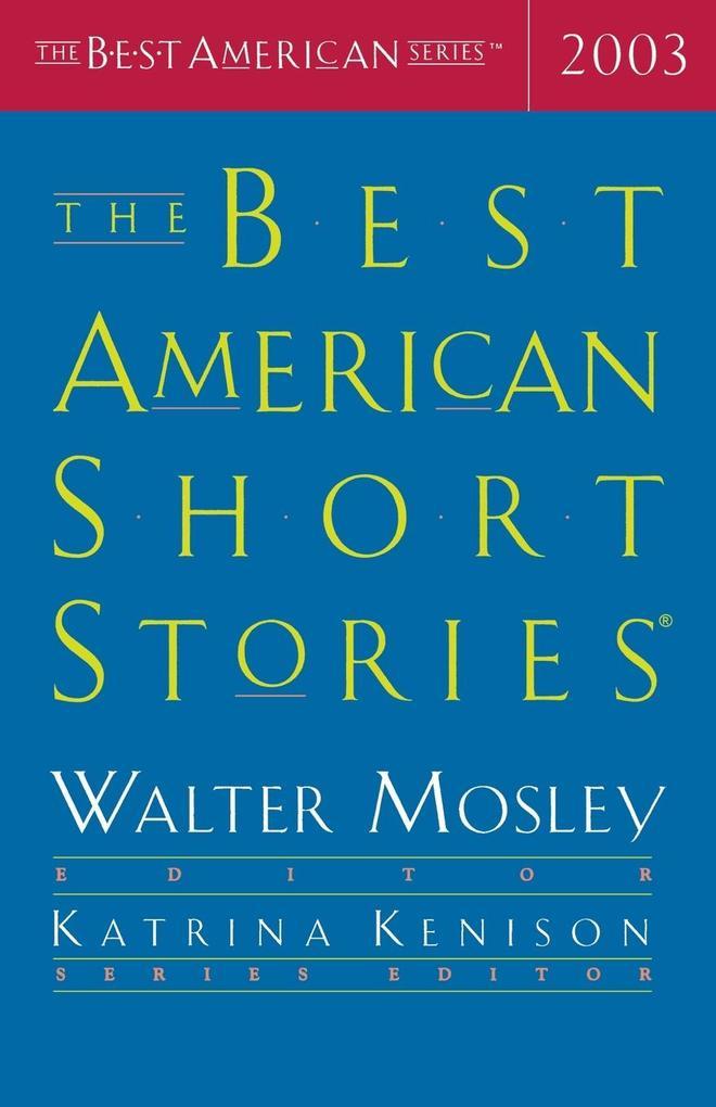 The Best American Short Stories 2003 als Taschenbuch