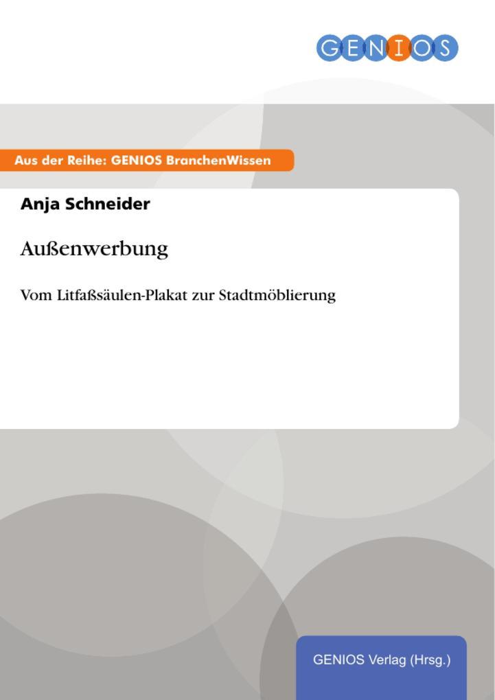 Außenwerbung als eBook Download von Anja Schneider