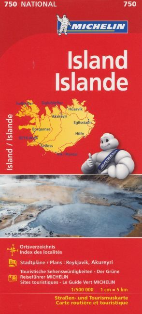 Michelin Nationalkarte Island als Buch