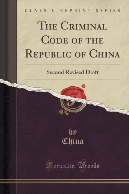 The Criminal Code of the Republic of China als ...