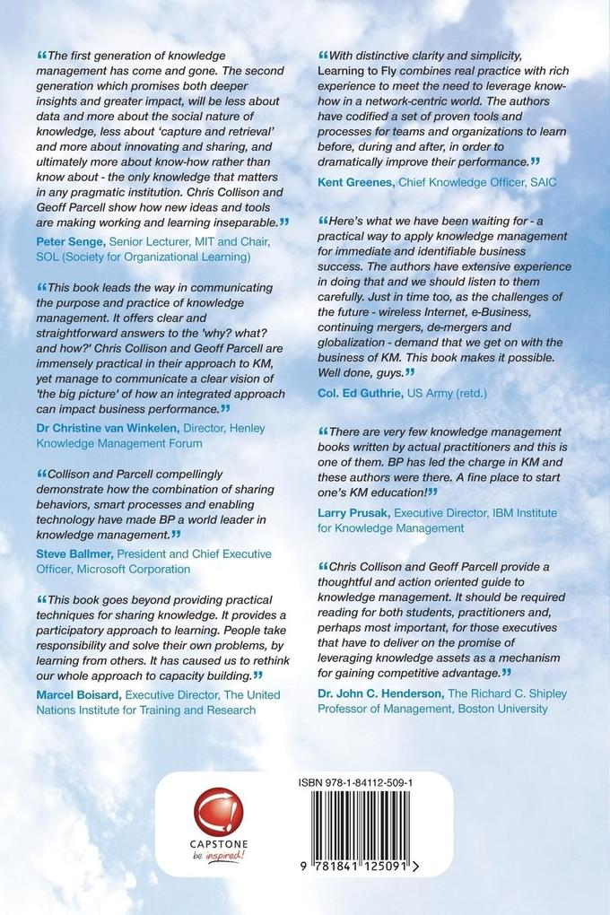 Learning to Fly - Practical Knowledge Management From Leading and Learning Organizations 2E als Buch