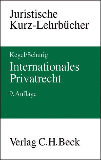 Internationales Privatrecht als Buch