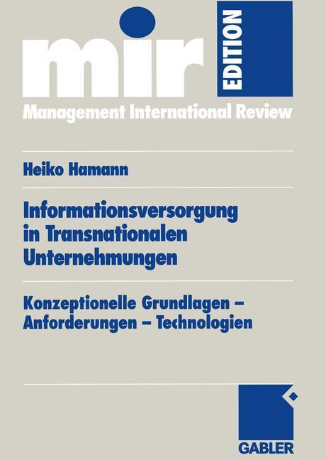 Informationsversorgung in transnationalen Unternehmungen als Buch