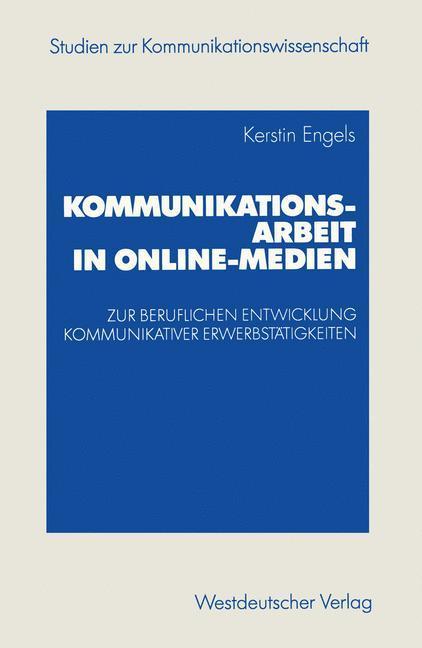 Kommunikationsarbeit in Online-Medien als Buch