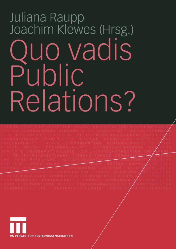 Quo vadis Public Relations? als Buch