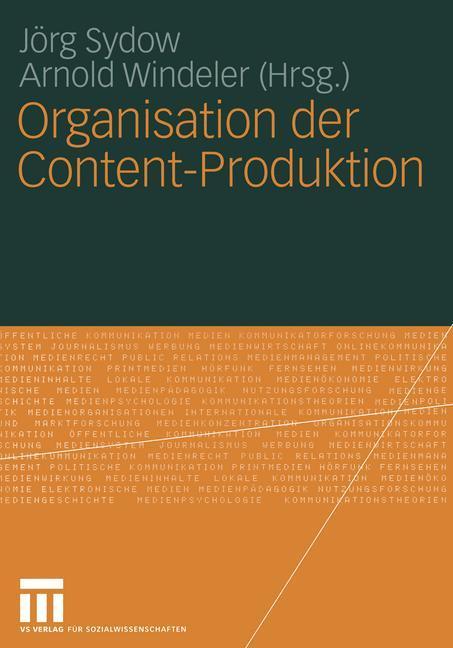 Organisation der Content-Produktion als Buch von