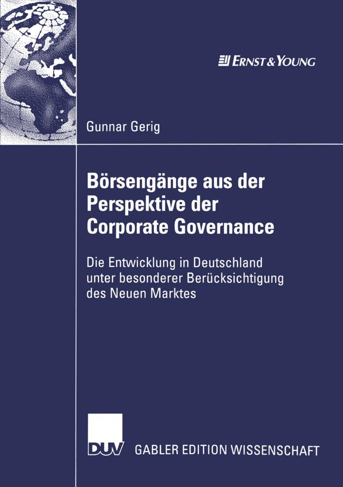 Börsengänge aus der Perspektive der Corporate Governance als Buch