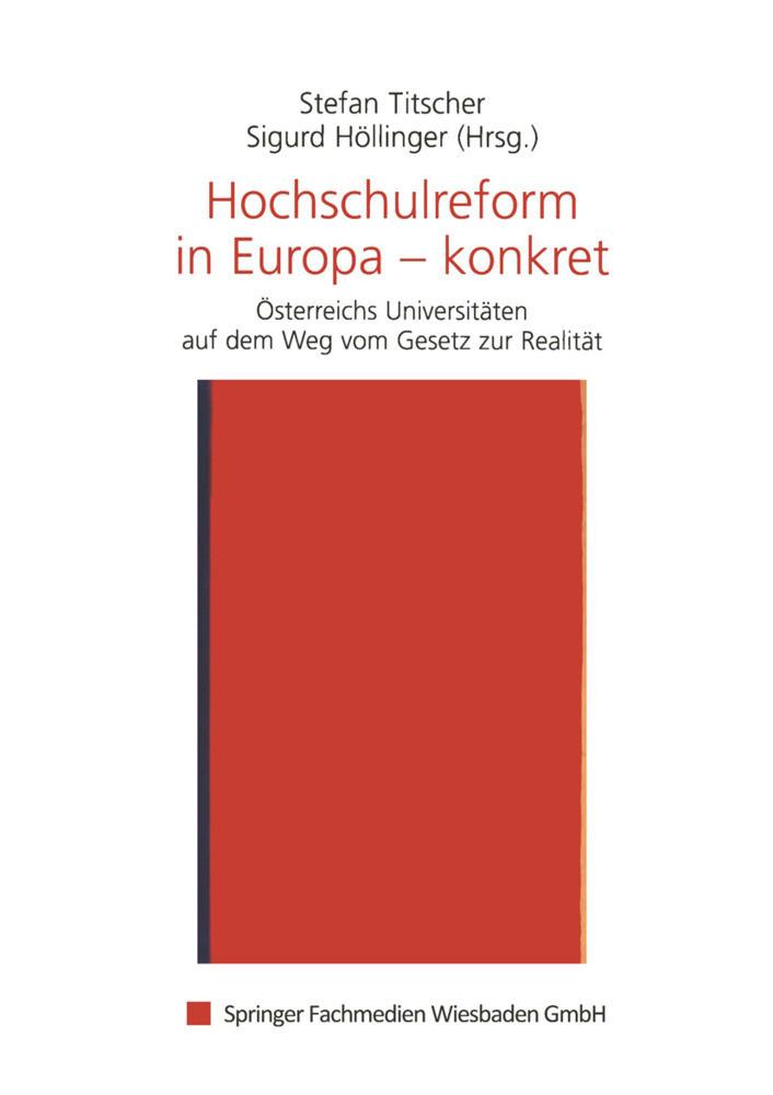 Hochschulreform in Europa - konkret als Buch