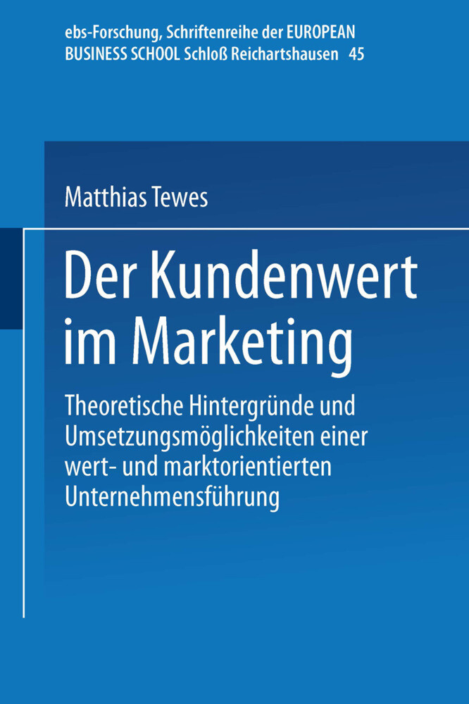 Der Kundenwert im Marketing als Buch