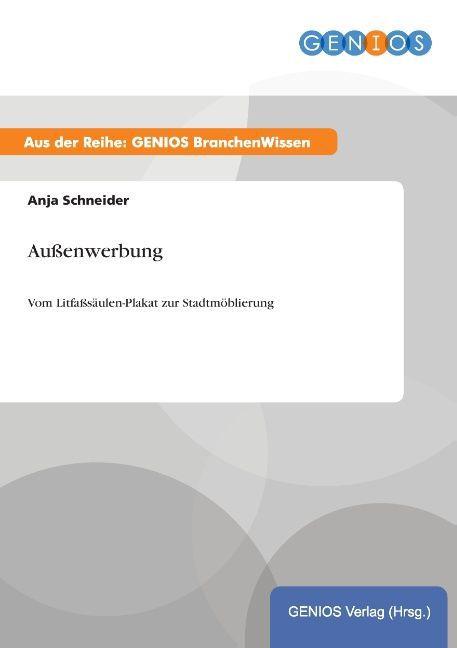 Außenwerbung als Buch von Anja Schneider