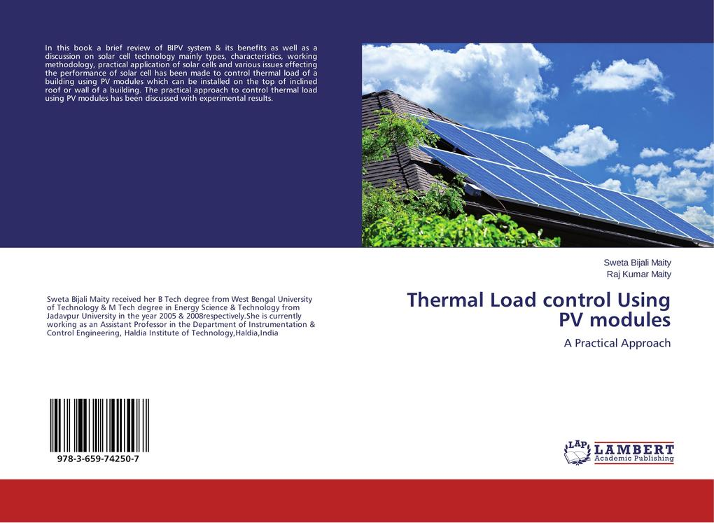 Thermal Load control Using PV modules als Buch ...