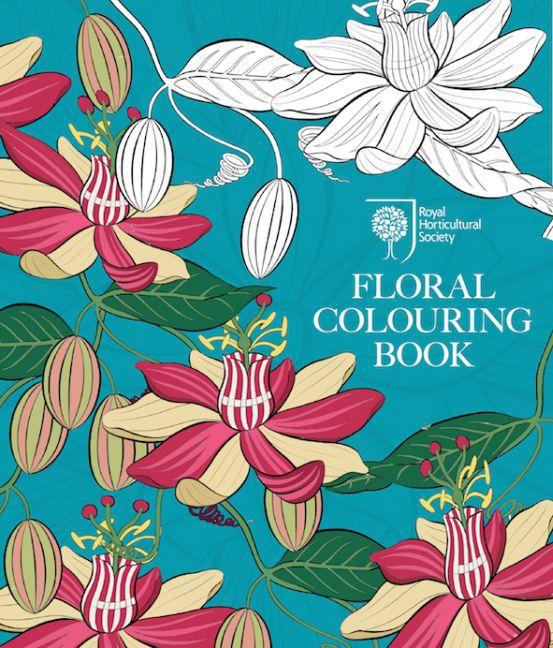 RHS Floral Colouring Book als Buch von
