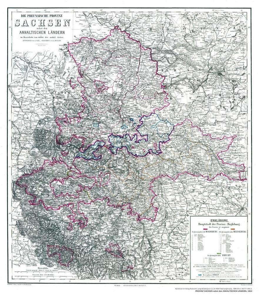 Histor. Karte: Sachsen nebst den ANHALTINISCHEN...