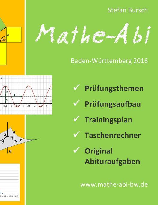 Mathe-Abi Baden-Württemberg 2016 als Buch von S...