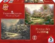Schmidt Spiele - Puzzle - Winter in Spring Gate/Spring Gate's Garten