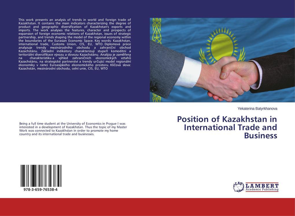 Position of Kazakhstan in International Trade a...