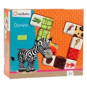 Domino Tiere und Texturen, farbenfrohes Lernspiel