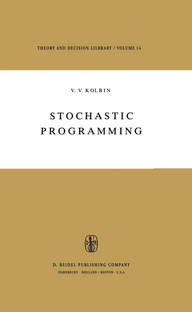 Stochastic Programming als Buch (gebunden)
