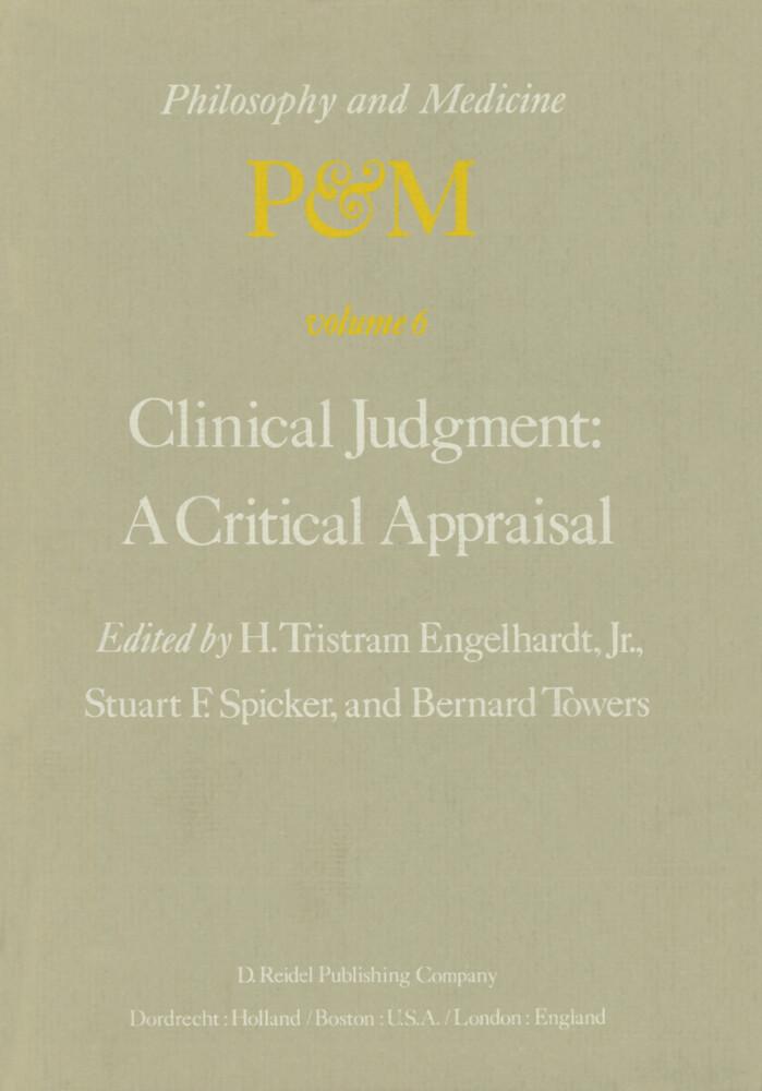 Clinical Judgment: A Critical Appraisal als Buch
