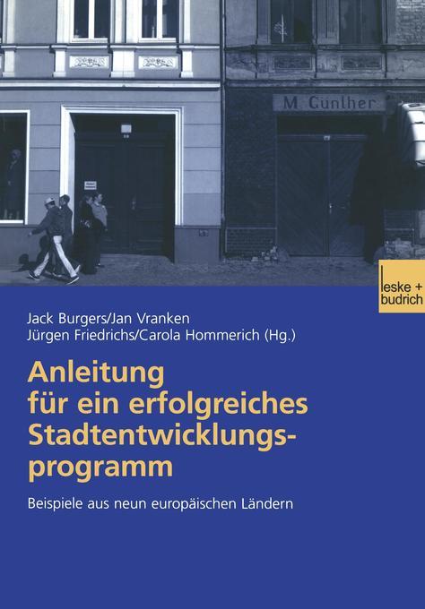 Anleitung für ein erfolgreiches Stadtentwicklungsprogramm als Buch