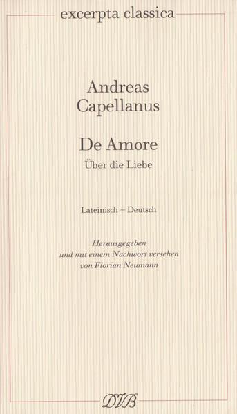Über die Liebe. De Amore als Buch (kartoniert)