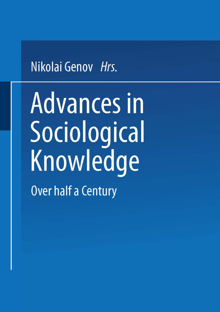 Advances in Sociological Knowledge als Buch
