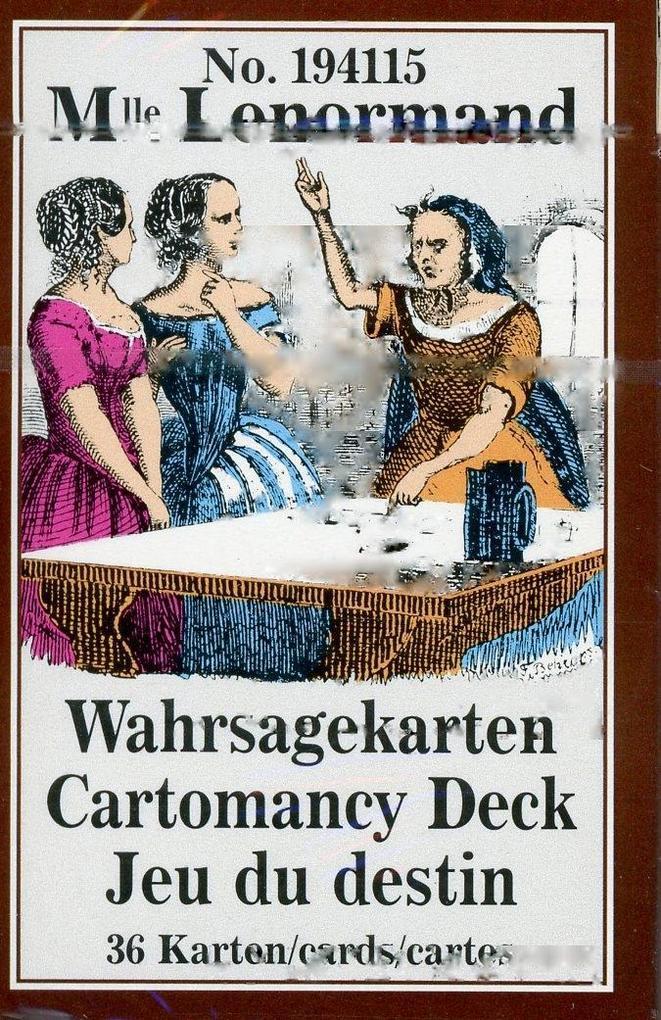 Lenormand Wahrsagekarten als Buch