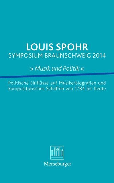 Louis Spohr Symposium Braunschweig 2014 Musik u...
