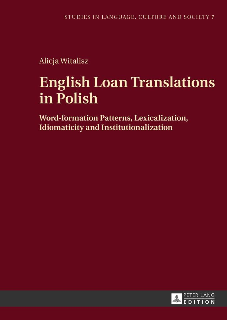 English Loan Translations in Polish als Buch vo...