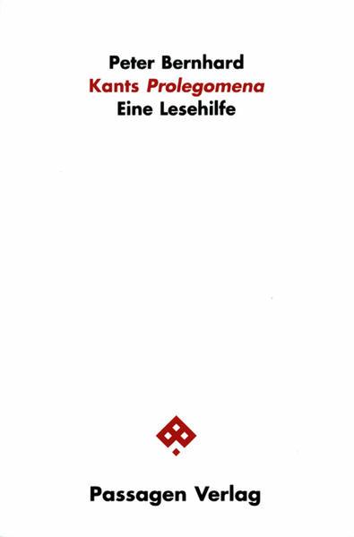 Kants Prolegomena als Buch