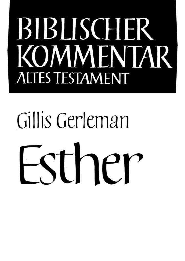 Esther als Buch