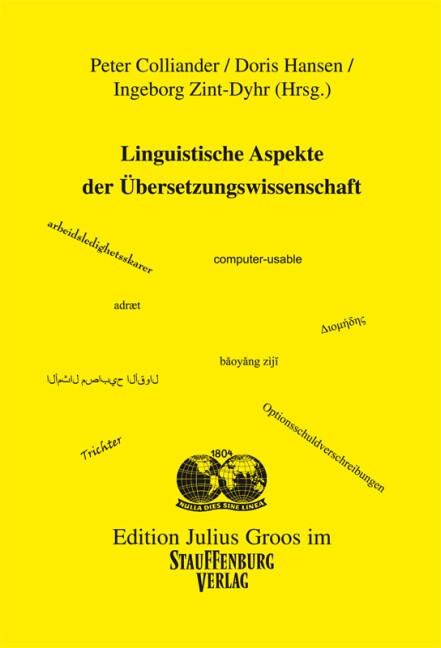 Linguistische Aspekte der Übersetzungswissenschaft als Buch