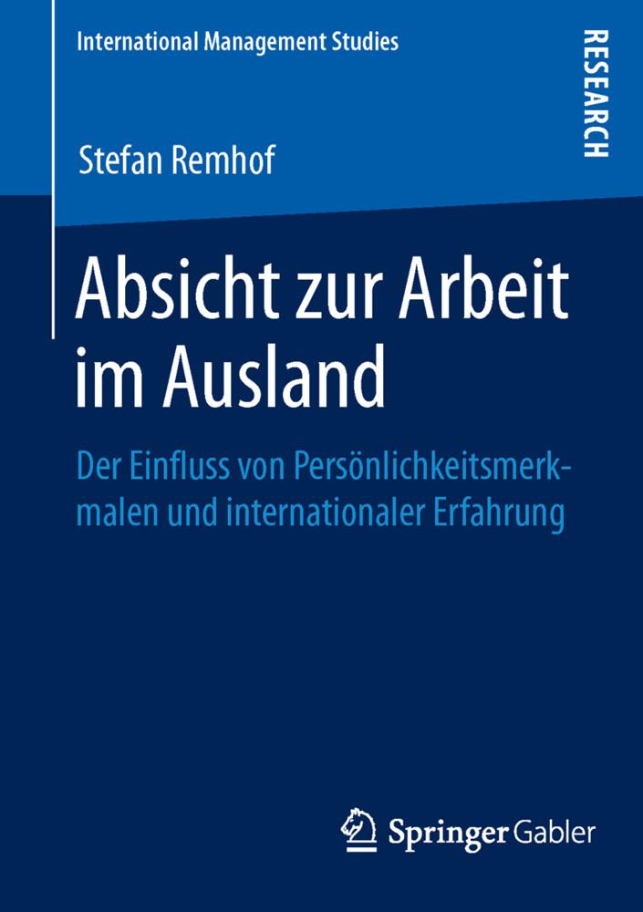Absicht zur Arbeit im Ausland als Buch von Stef...