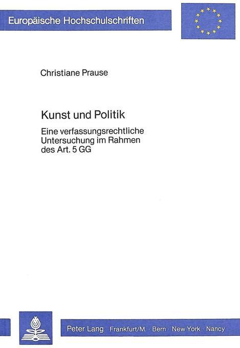 Kunst und Politik als Buch von Christiane Prause