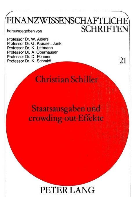 Staatsausgaben und crowding-out-Effekte als Buch