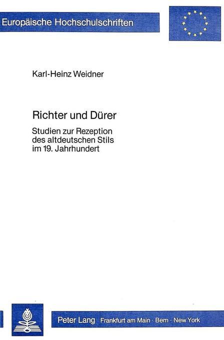 Richter und Dürer als Buch von Karl-Heinz Weidner