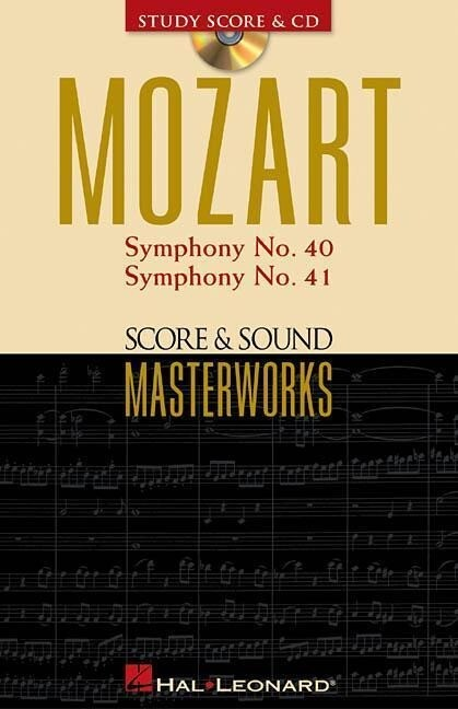Mozart - Symphony No. 40 in G Minor/Symphony No. 41 in C Major: Score & Sound Masterworks als Taschenbuch