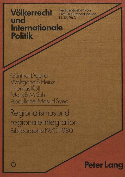 Regionalismus und regionale Integration als Buc...