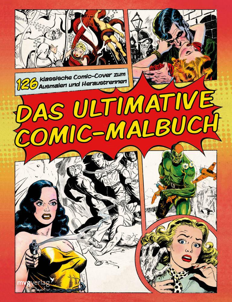 Das ultimative Comic-Malbuch als Buch (kartoniert)