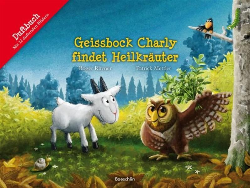 Geissbock Charly findet Heilkräuter als Buch vo...