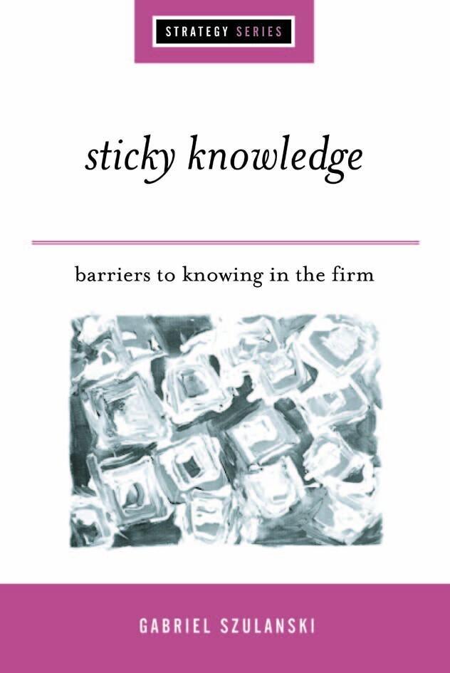 Sticky Knowledge als eBook Download von Gabriel...