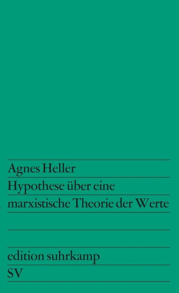 Hypothese über eine marxistische Theorie der Werte als Taschenbuch